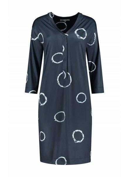 SYLVER Tye and Dye Dress - Donkerblauw