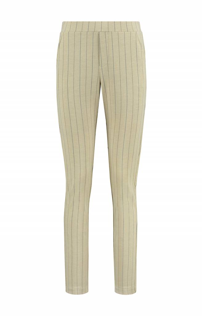 SYLVER Stripe Sweat Trousers wide legs - Antique White
