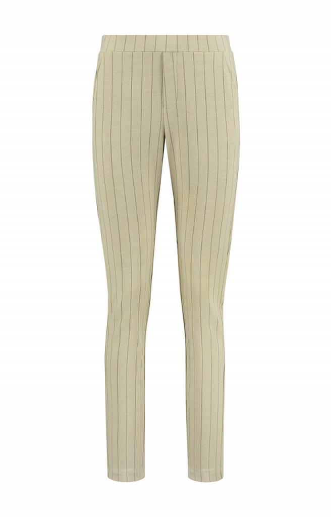 SYLVER Stripe Sweat Trousers wide legs - Vanille