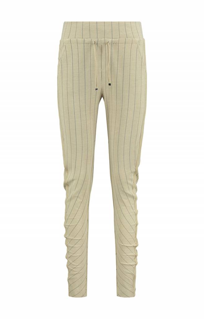 SYLVER Stripe Sweat Trousers back pockets - Vanille