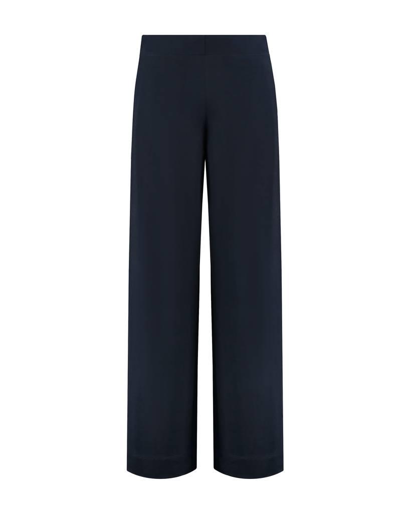 SYLVER Crêpe Stretch Pants - Marineblauw