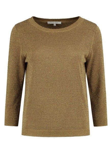 SYLVER Metallic Pullover - Dark Gold
