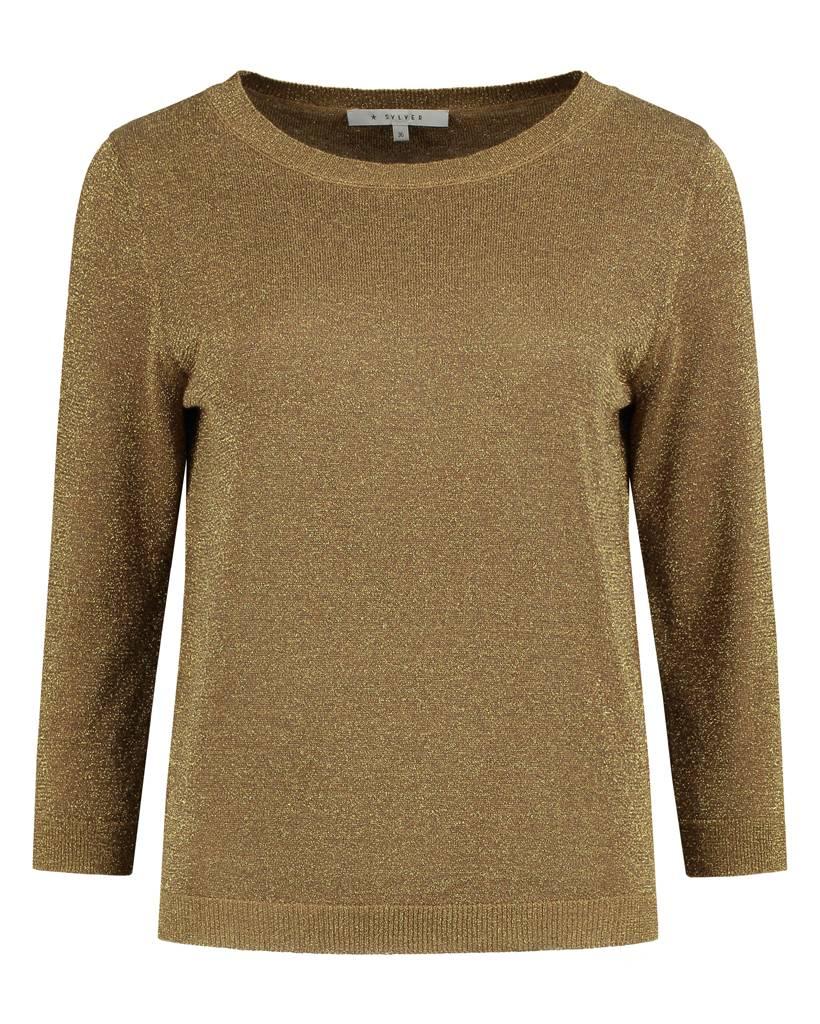 SYLVER Metallic Pullover - Donker Goud