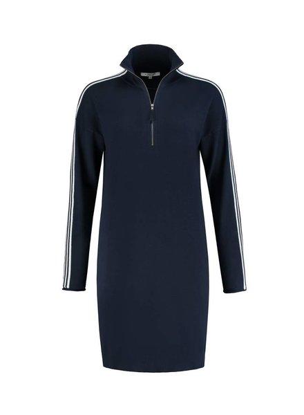 SYLVER Cotton Comfort Tunic - Navy