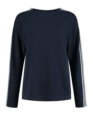 SYLVER Cotton Comfort Pullover - Marineblauw