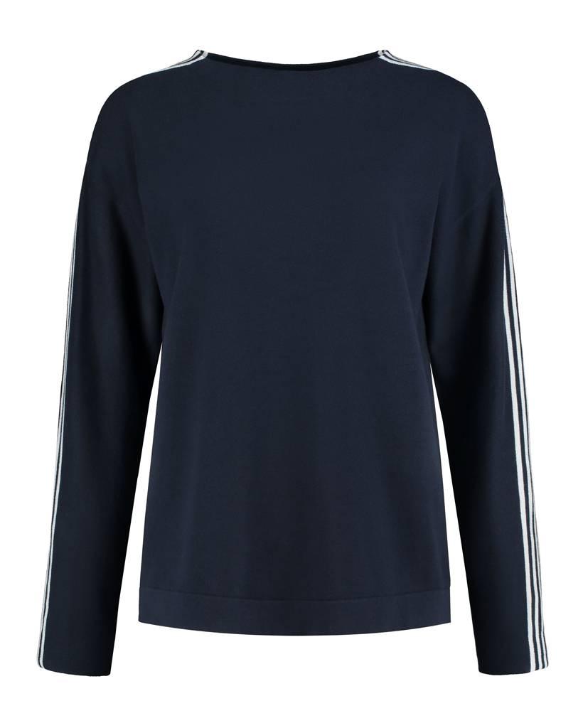 SYLVER Cotton Comfort Pullover - Navy