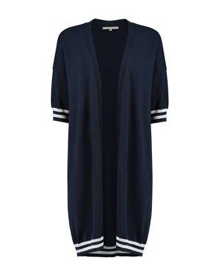 SYLVER Cotton Comfort Cardigan - Marineblauw