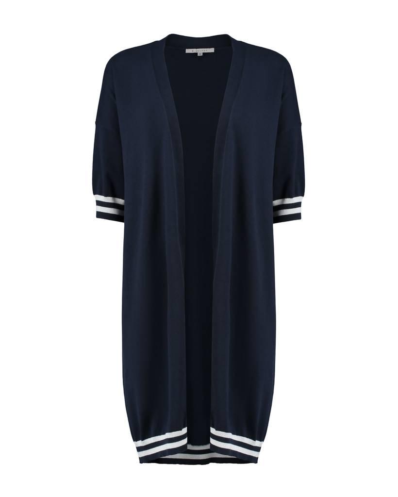 SYLVER Cotton Comfort Cardigan - Navy