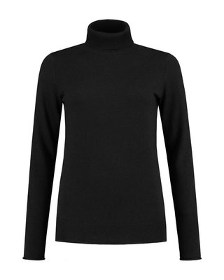 SYLVER Cashmere Mix Pull Collar - Zwart