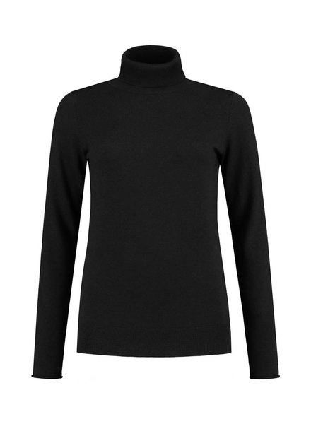 SYLVER Cashmere Mix Pull Collar - Black