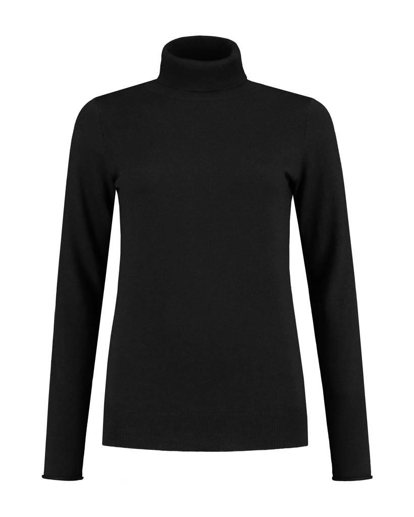 SYLVER Cashmere Mix Pull Collar - Black