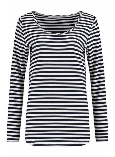SYLVER Stripe T-shirt long sleeve - Navy