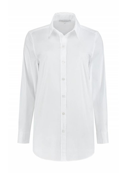 SYLVER Stretch Cotton Blouse - White
