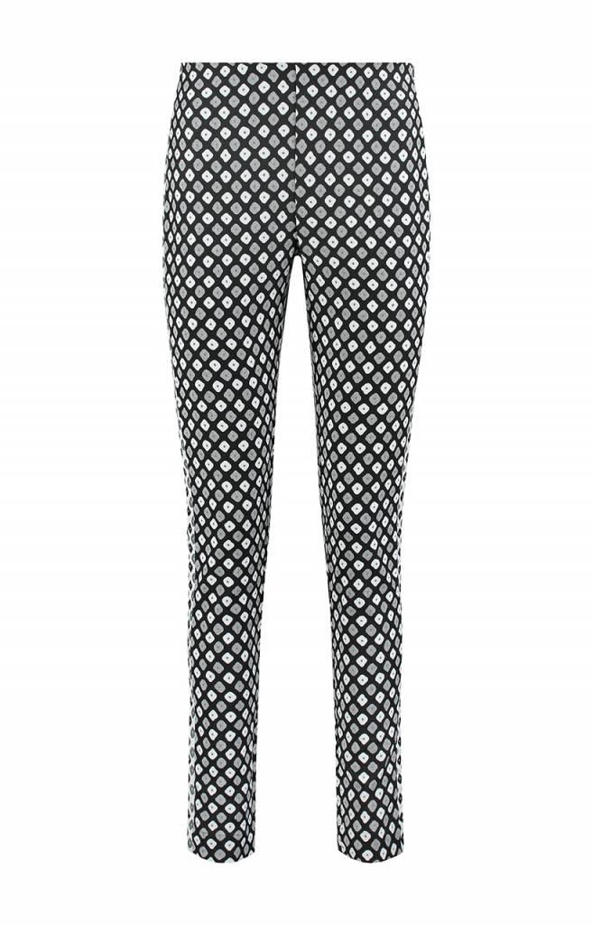 SYLVER Dobby Trousers - Zwart