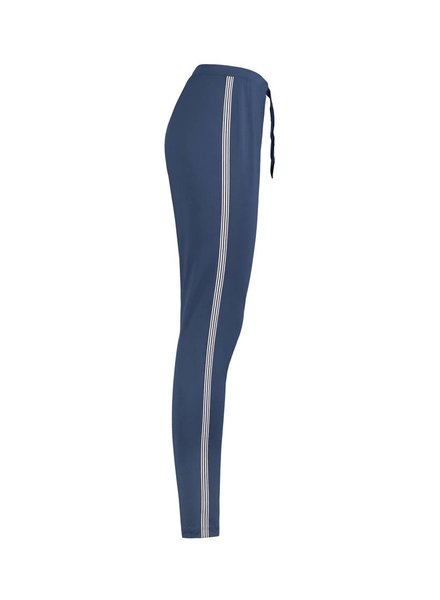 SYLVER Silky Jersey Pants Striped Tape - Jeansblauw