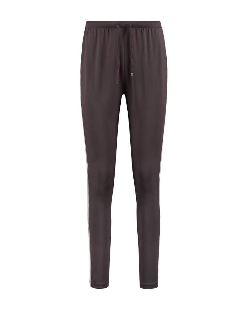 SYLVER Silky Jersey Pants Striped Tape - Bruin