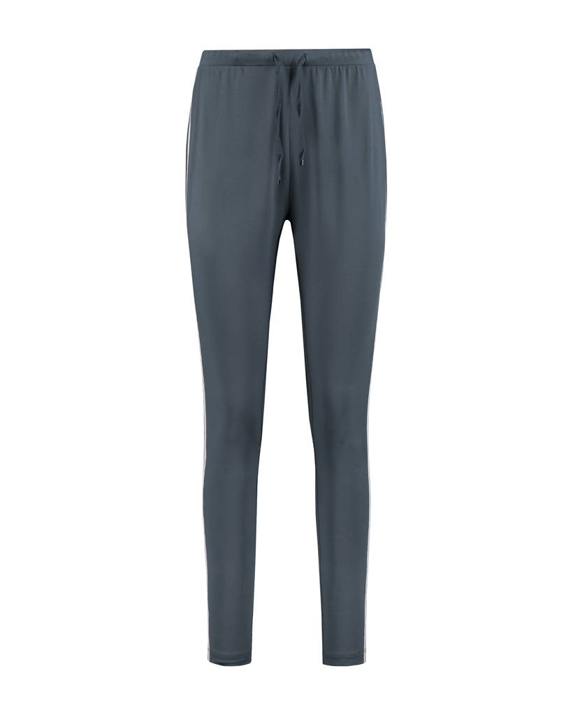 SYLVER Silky Jersey Pants Striped Tape - Staalgrijs