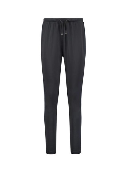 SYLVER Silky Jersey Pants Striped Tape - Black