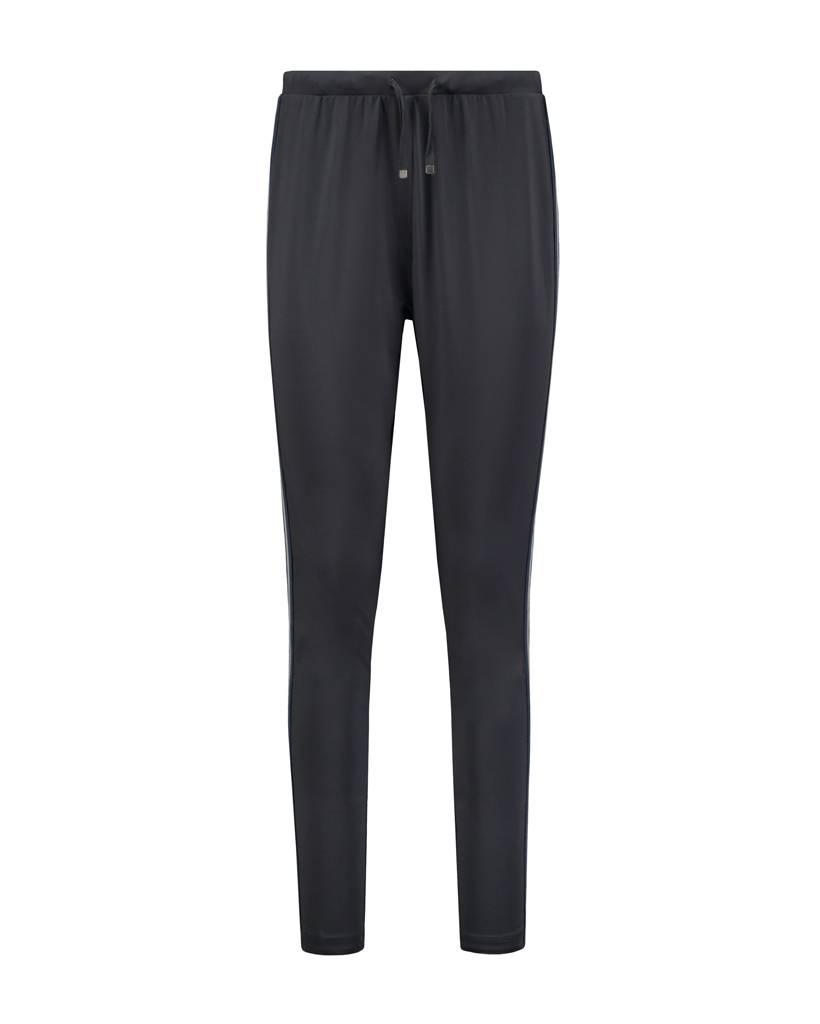 SYLVER Silky Jersey Pants Striped Tape - Zwart