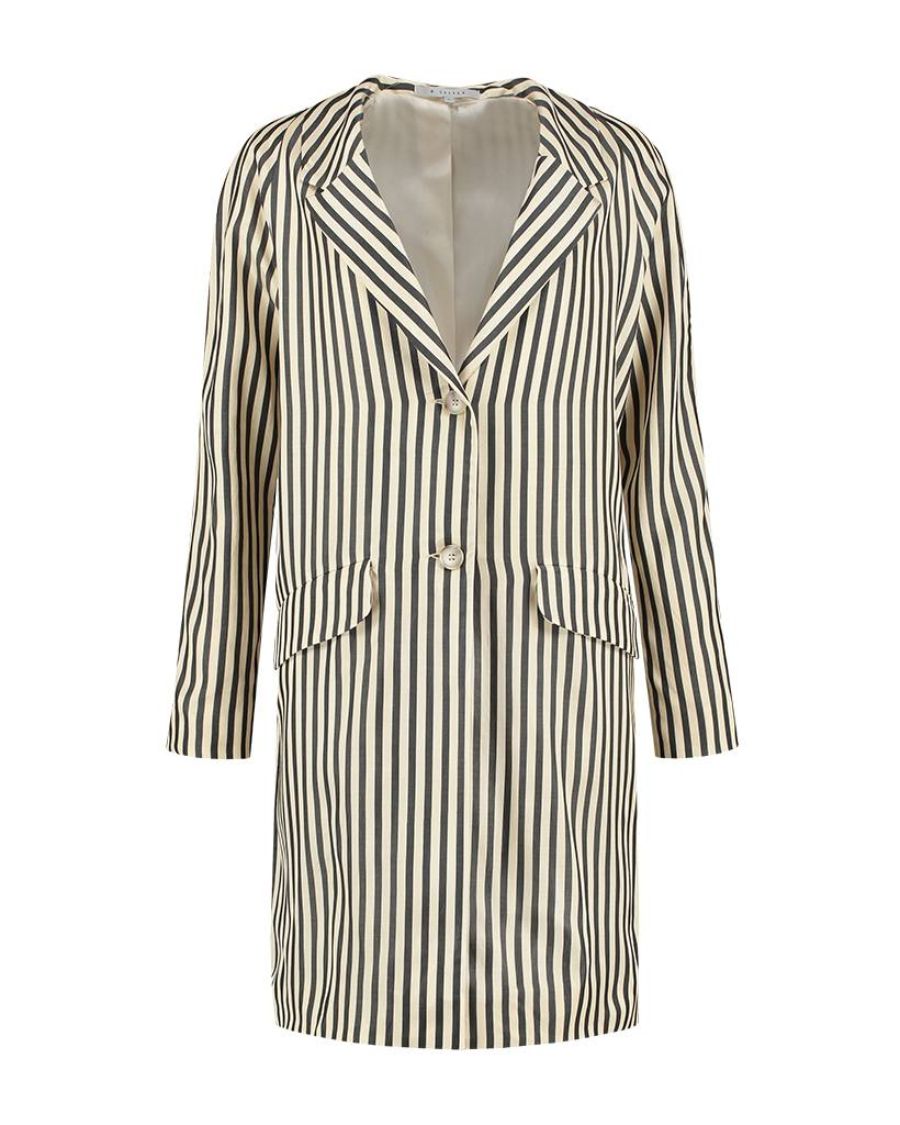 SYLVER Black Stripe Blazer - Cream