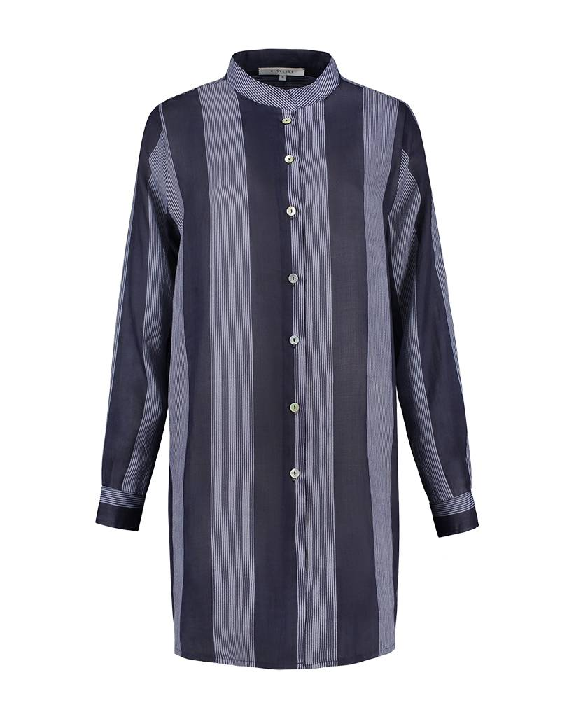 SYLVER Stripes Blouse - Dark Blue
