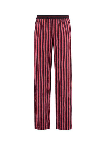 SYLVER Accent Stripe Trousers - Kersenrood