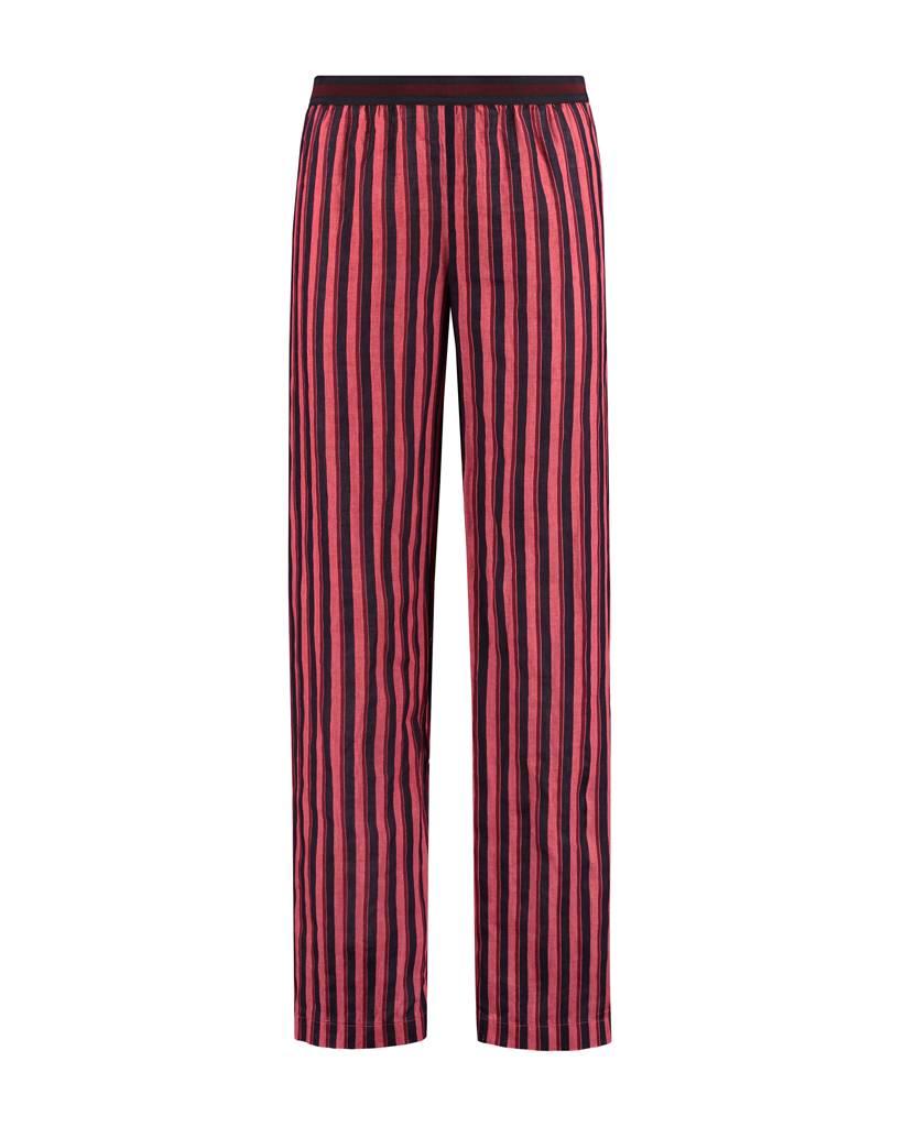 SYLVER Accent Stripe Trousers - Cerise