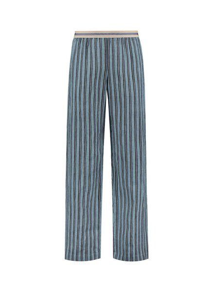 SYLVER Accent Stripe Trousers - Grey Blue