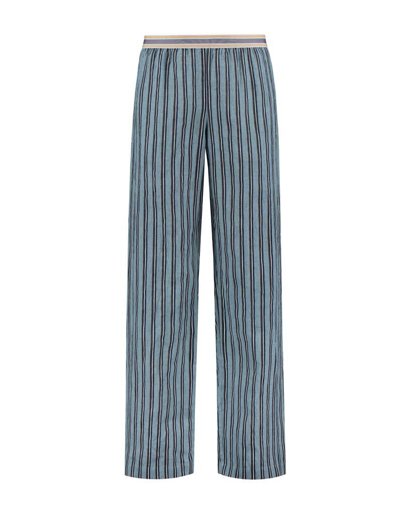 SYLVER Accent Stripe Trousers - Lichtblauw