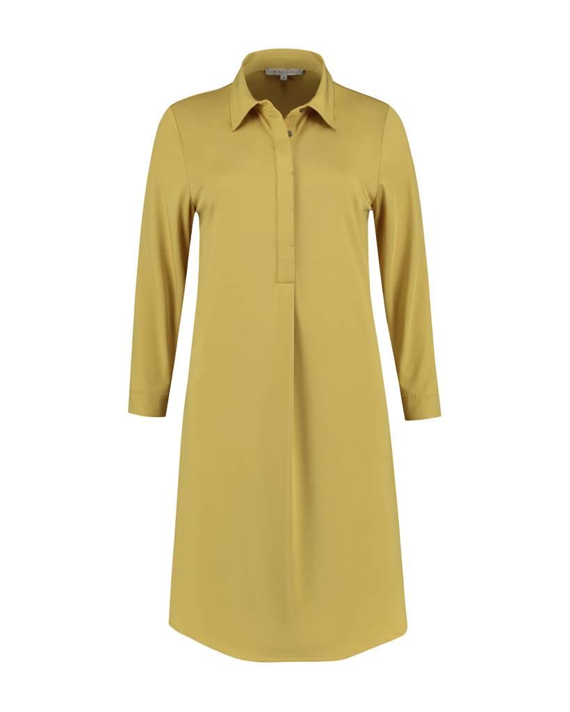 SYLVER Silky Jersey Dress Collar - Okergeel