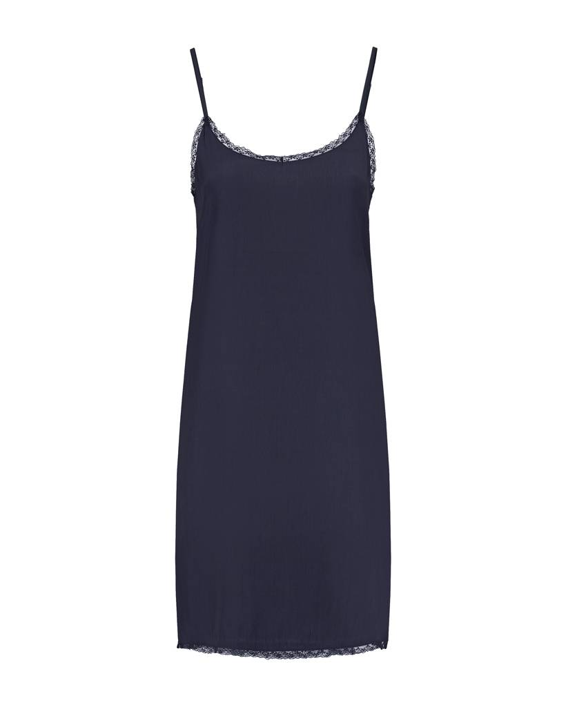SYLVER Silky Jersey Slip dress - Dark Blue