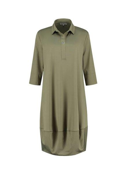 SYLVER Silky Jersey Dress Ballon - Legergroen