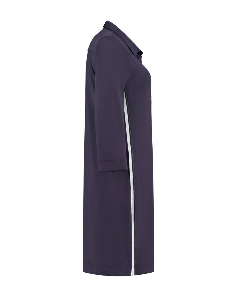 SYLVER Silky Jersey Blouse - Dark Purple