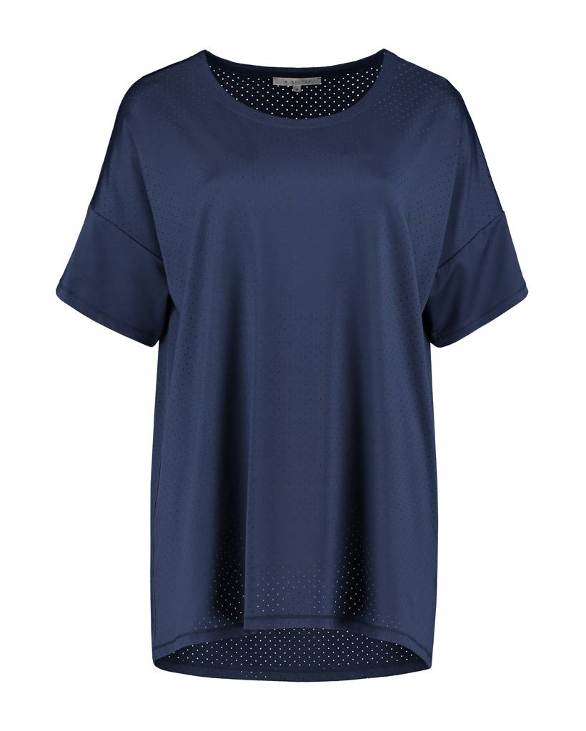 SYLVER Silky Jersey Shirt - Donkerblauw
