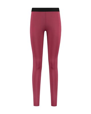 SYLVER Silky Jersey Legging - Donkerrood