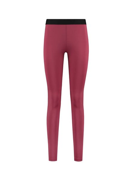 SYLVER Silky Jersey Legging - Warm Red