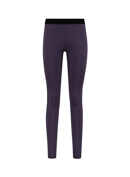 SYLVER Silky Jersey Legging - Donkerpaars