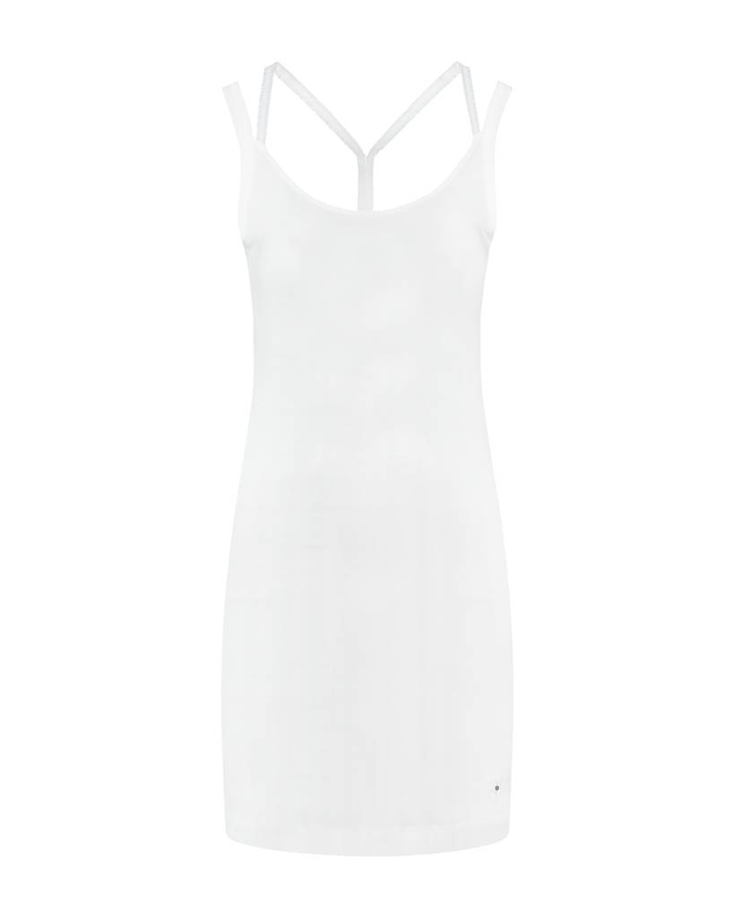 SYLVER Cotton Elasthane Dress Crossed - White