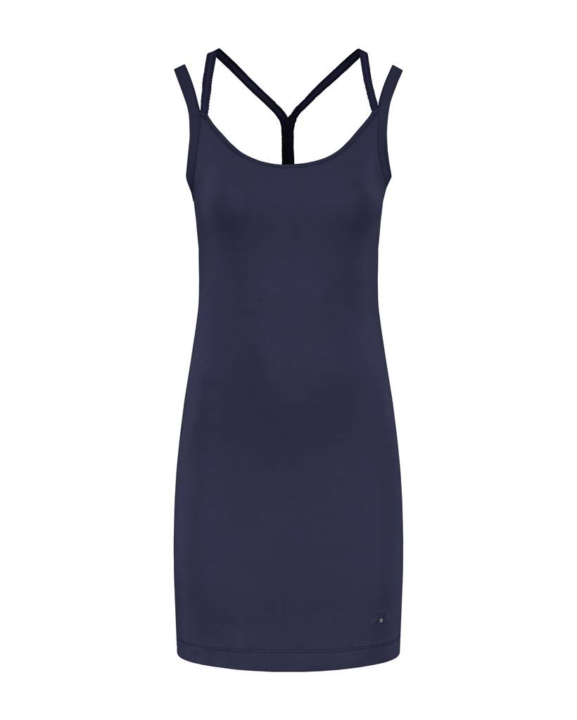 SYLVER Cotton Elasthane Dress Crossed - Donkerblauw
