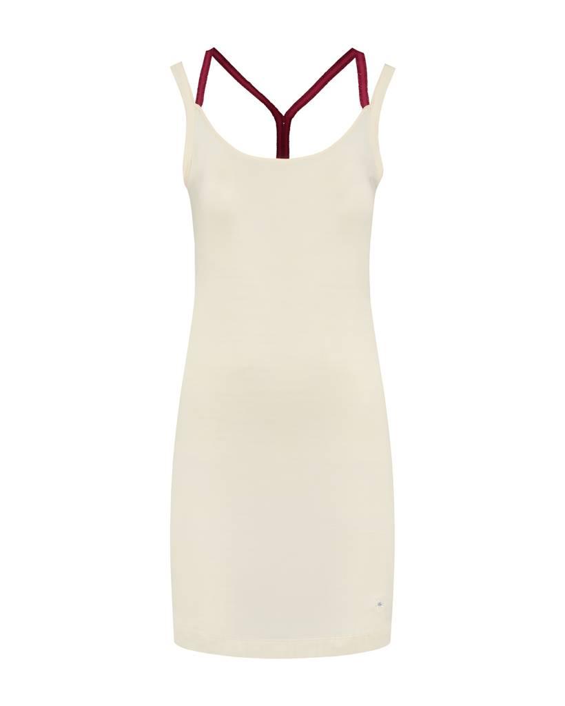 SYLVER Cotton Elasthane Dress Crossed - Warm Red