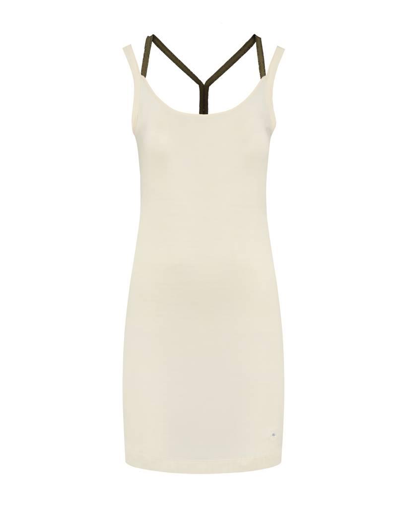 SYLVER Cotton Elasthane Dress Crossed - Legergroen