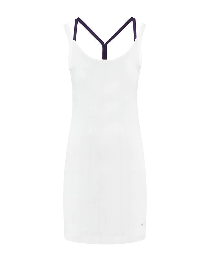 SYLVER Cotton Elasthane Dress Crossed - Donkerpaars
