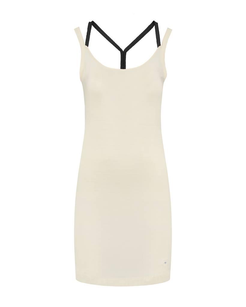 SYLVER Cotton Elasthane Dress Crossed - Zwart