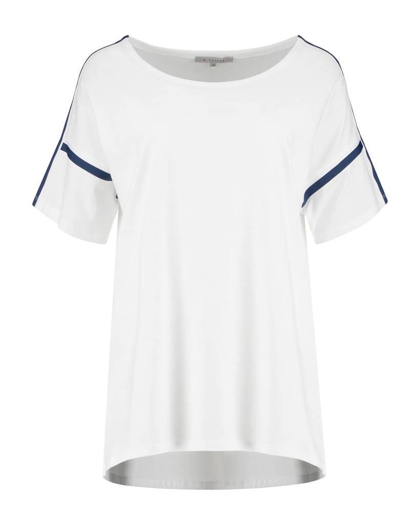 SYLVER Cotton Elasthane Shirt - Wit