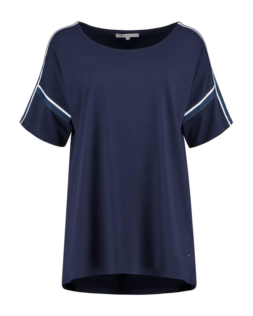 SYLVER Cotton Elasthane Shirt - Dark Blue