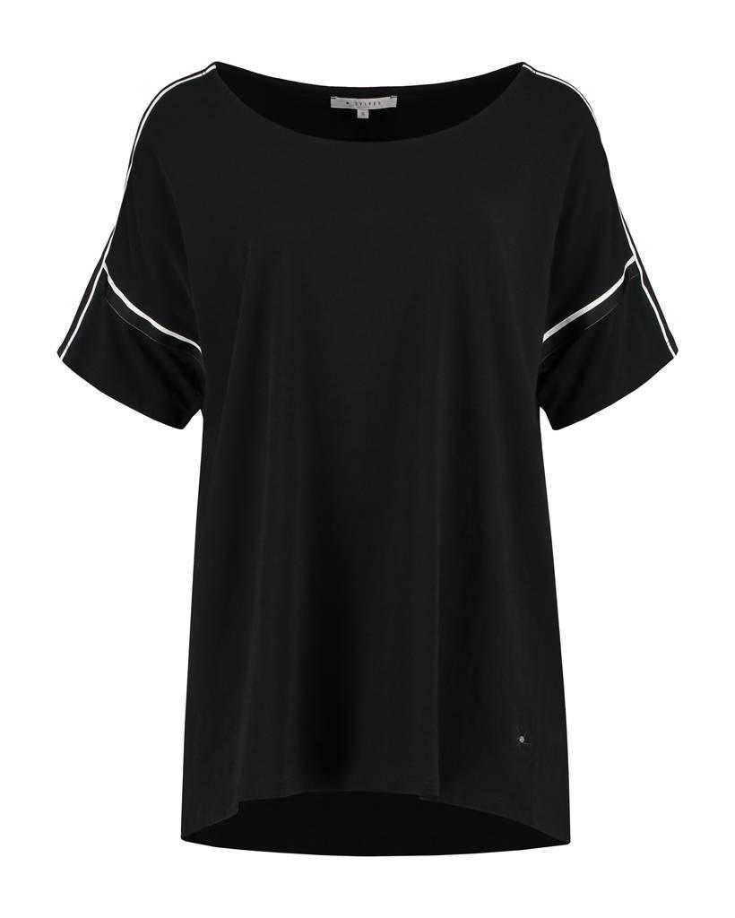 SYLVER Cotton Elasthane Shirt - Zwart