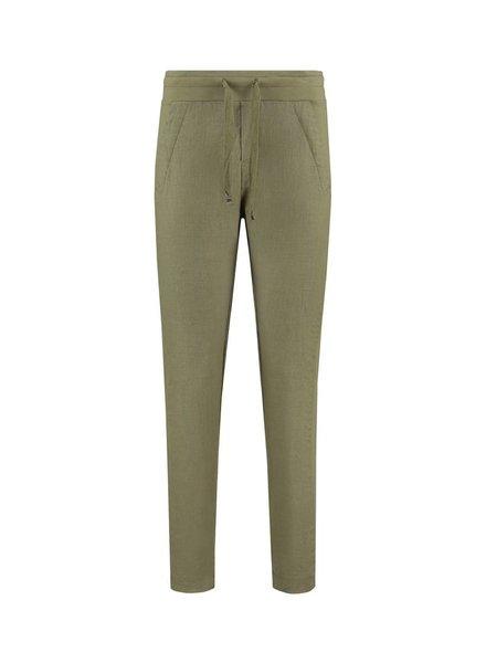 SYLVER Sweat Combi Linen Pants - Army
