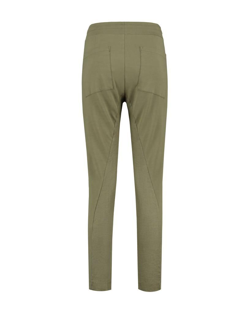 SYLVER Sweat Combi Linen Pants - Legergroen