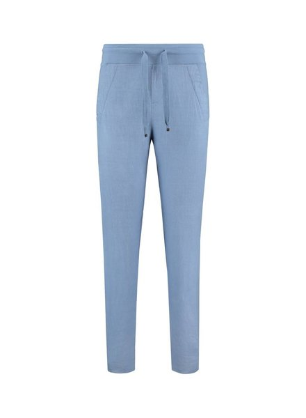 SYLVER Sweat Combi Linen Pants - Grey Blue