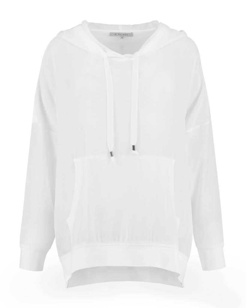 SYLVER Light Slub Sweater - White